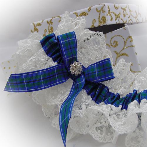Ancient douglas tartan wedding garter