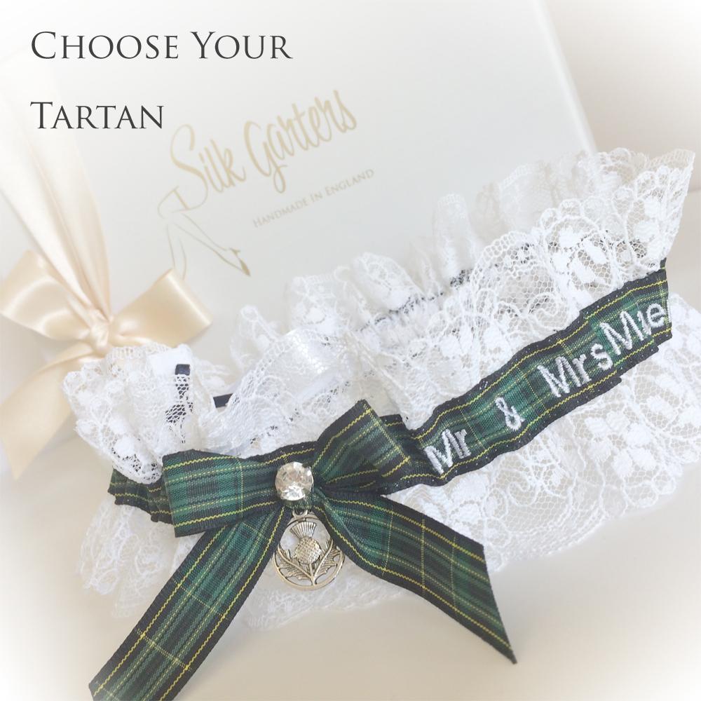 Personalised Celtic tartan garter