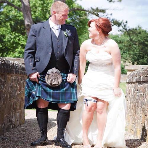 Glasgow rangers wedding garter