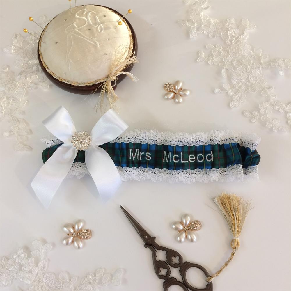 Mcleod tartan garter