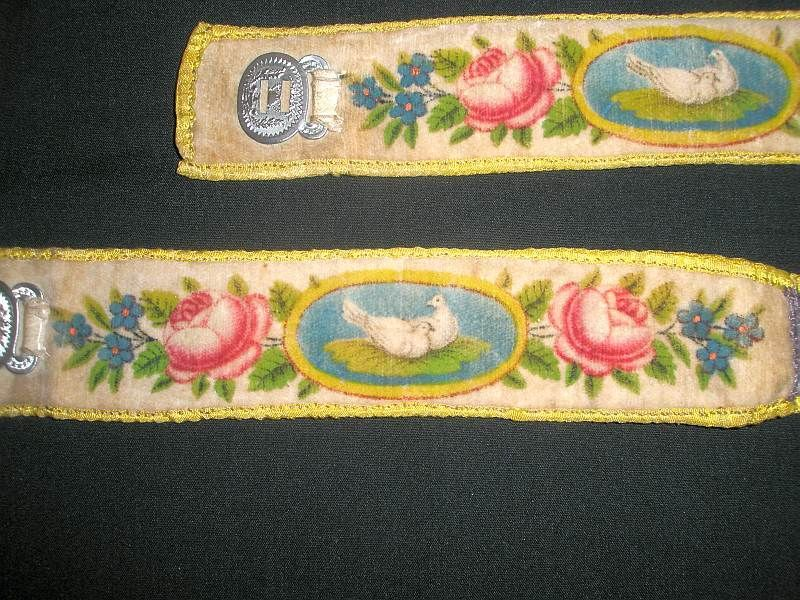 Wntique wedding garters from the 1780's