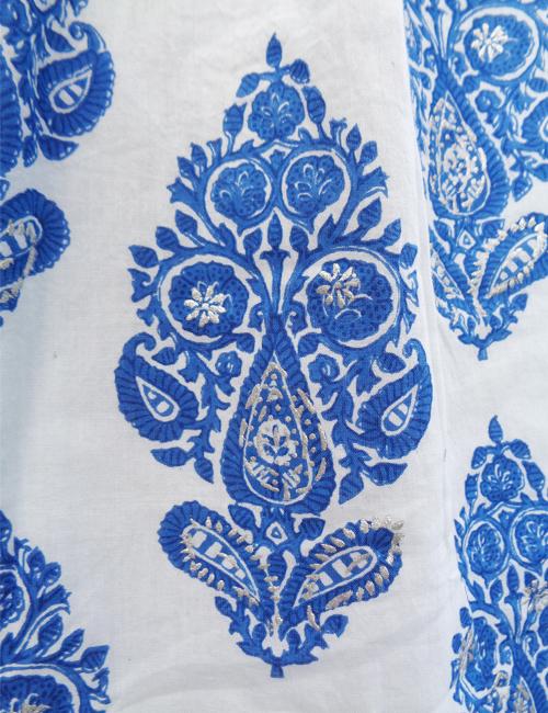 East dress The skirt print in closeup