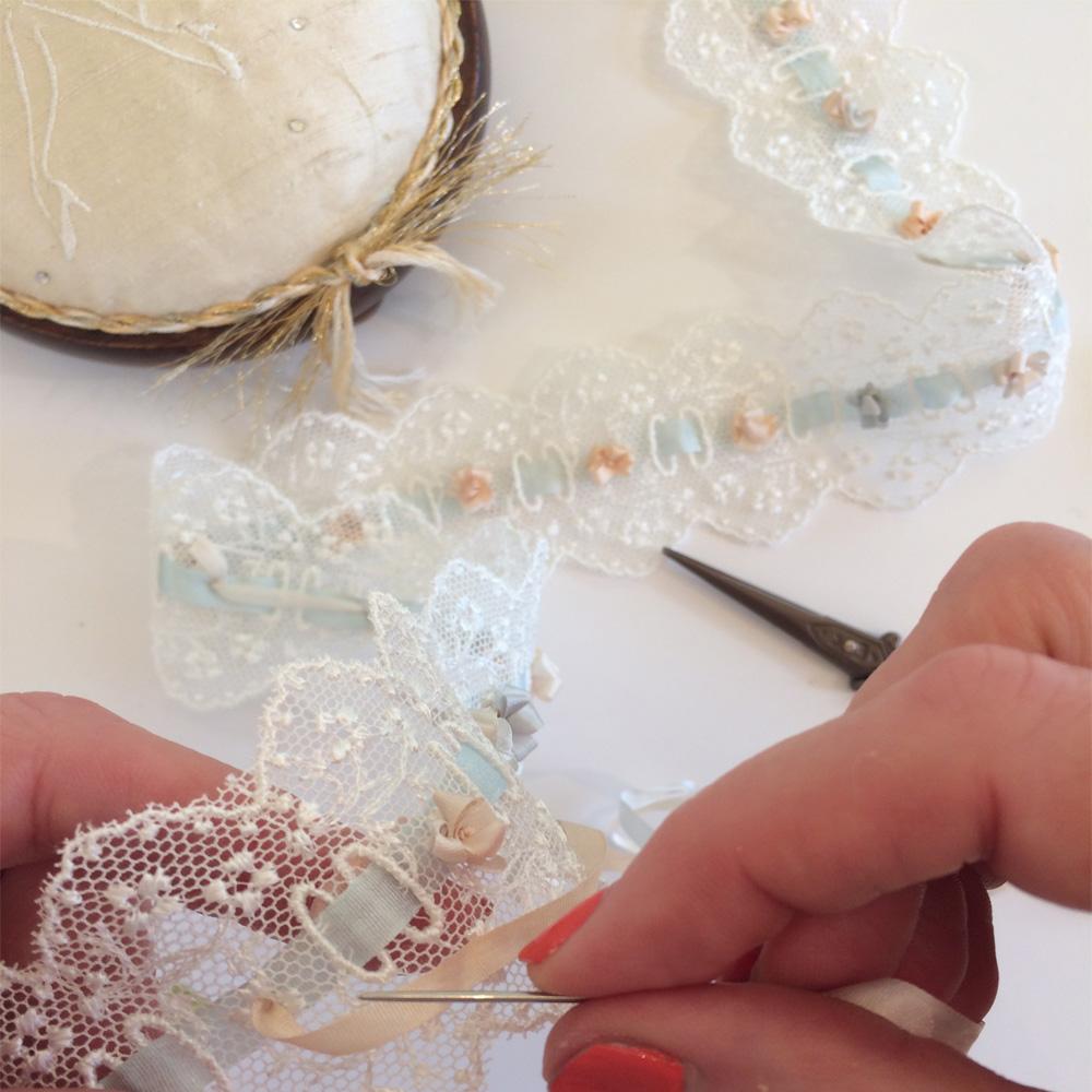 Making a Royal wedding garter Meghan