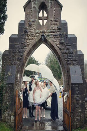 Jennie showing her bridal garter photo by Assassynation