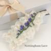 Custom made hand embroidered wedding garter