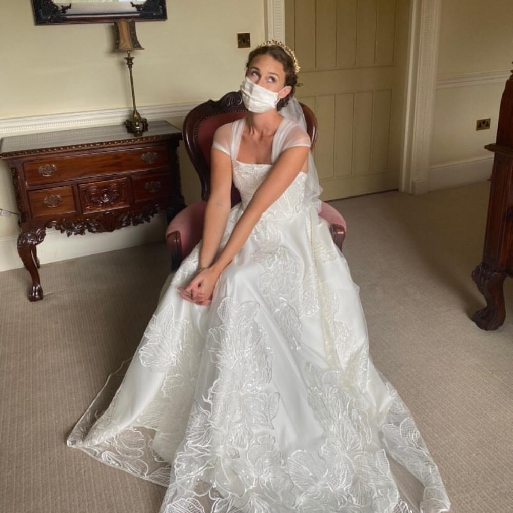 bride wedding face mask