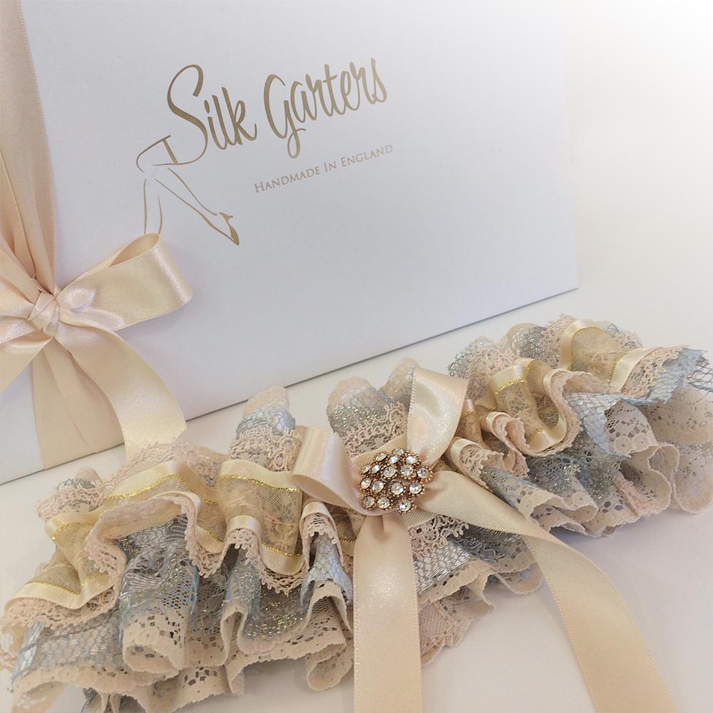 Decadent lace wedding garter