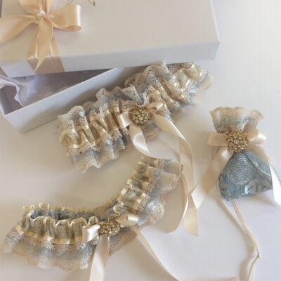 decadent lace wedding garter set
