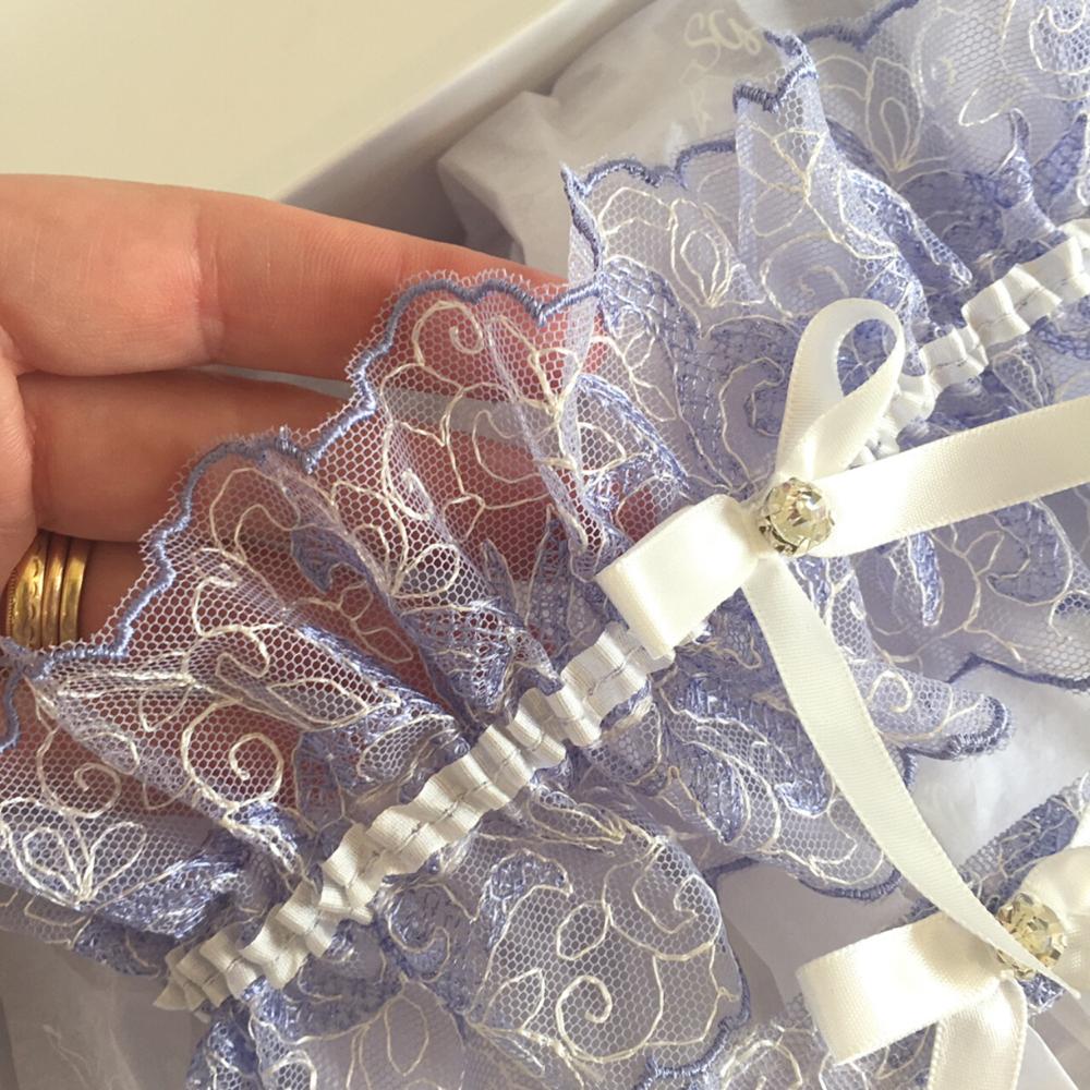tulle wedding garter