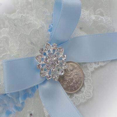 Lucky Sixpence Wedding Garter