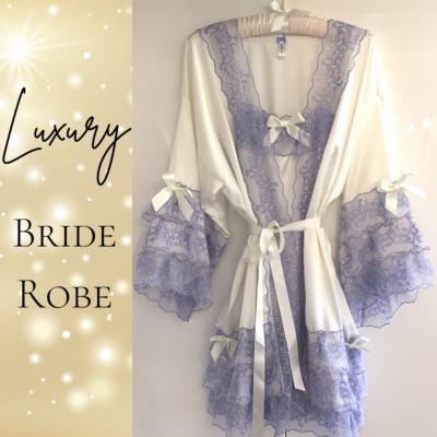 bridal peignoir sets satin and lace
