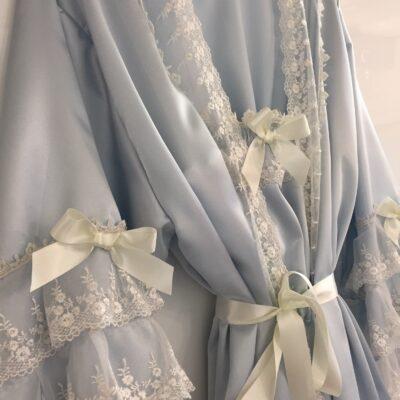 bride robe vintage satin lace