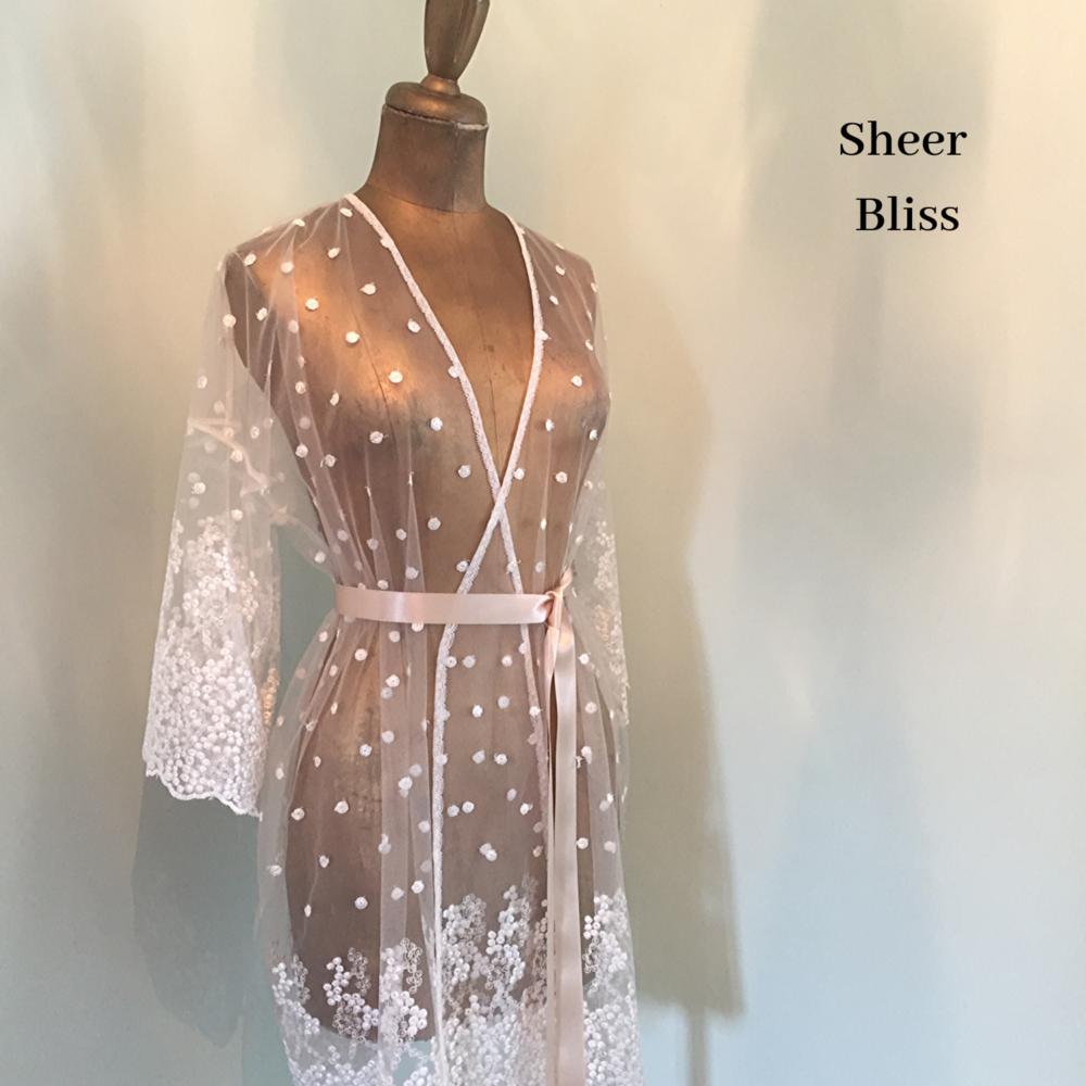 Lace robe brides honeymoon