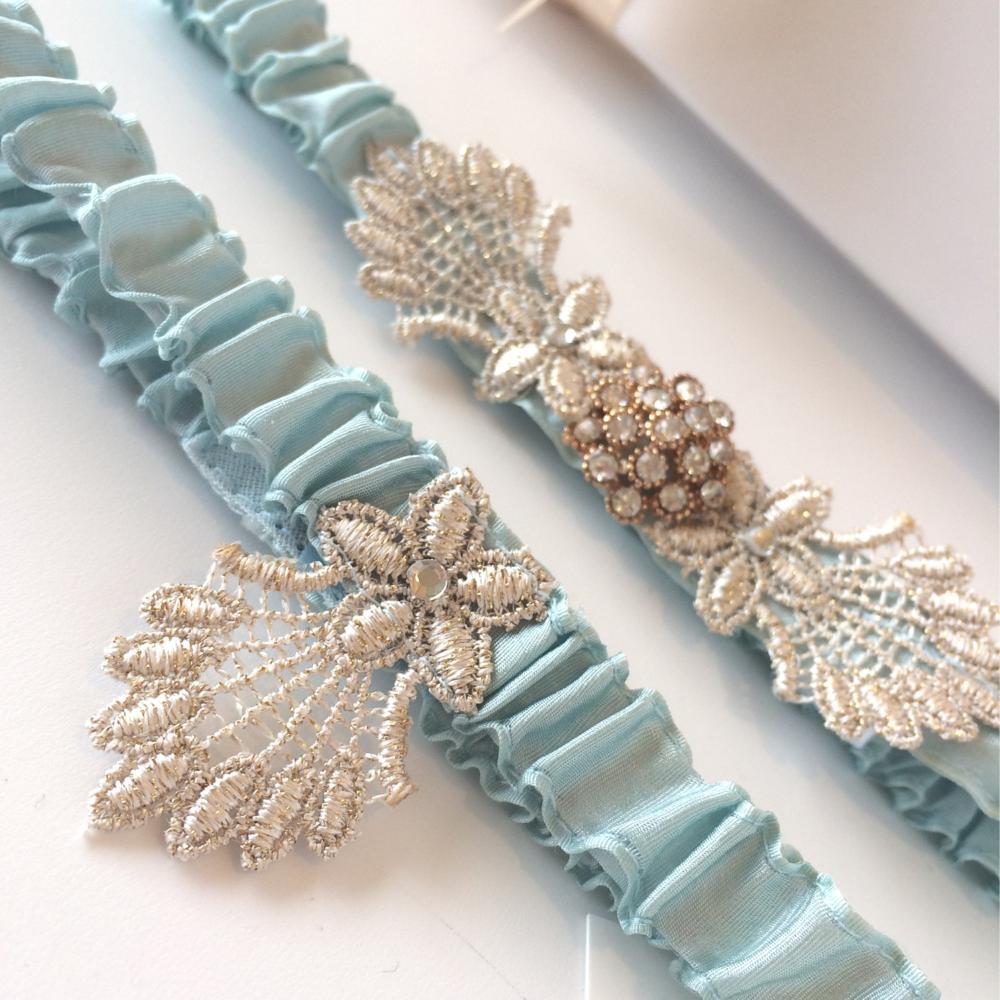 something blue brides garter