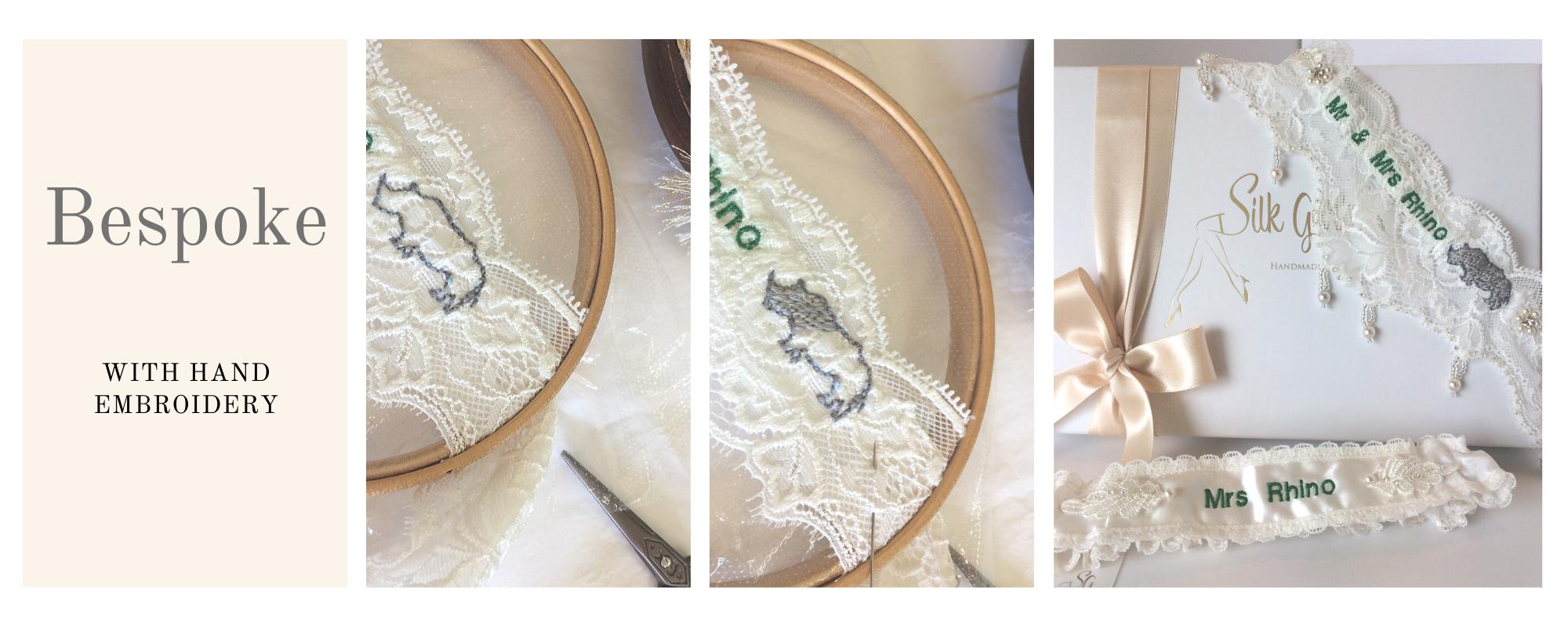 Bespoke wedding garters