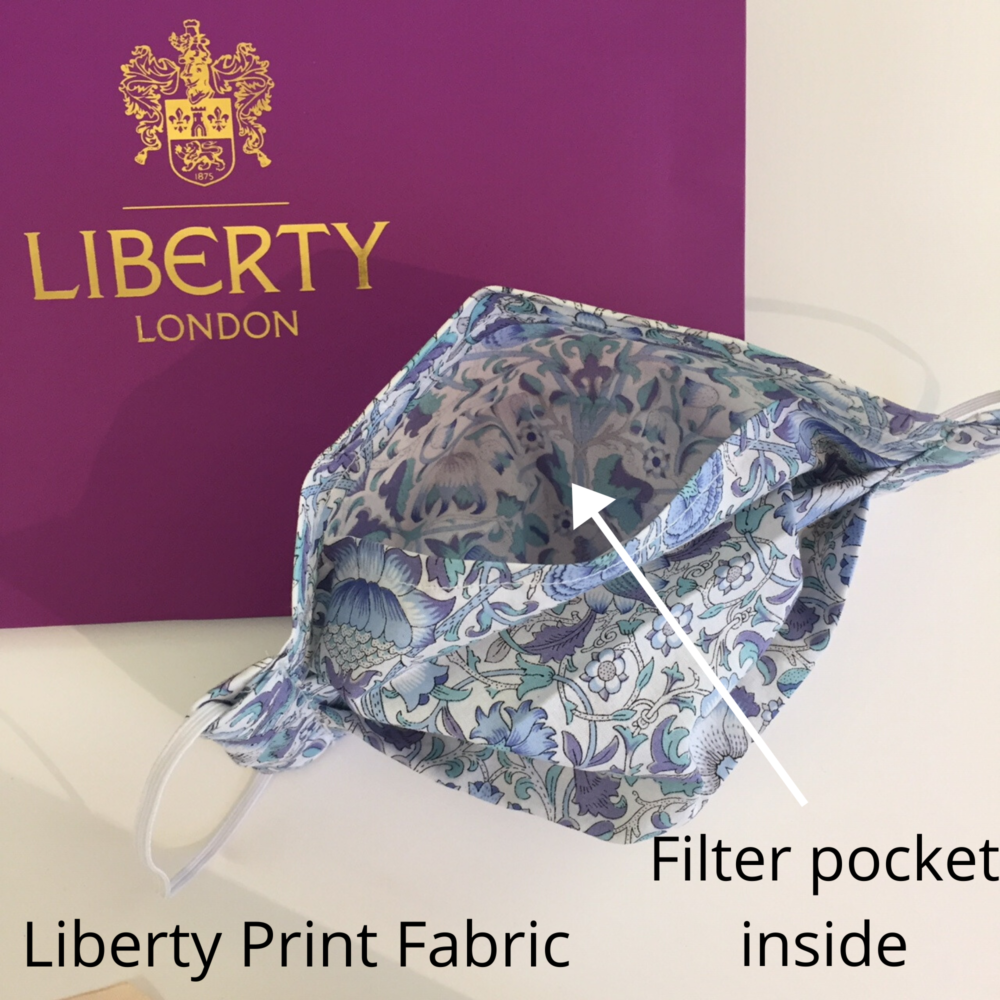 Liberty of London face mask with filter pocket