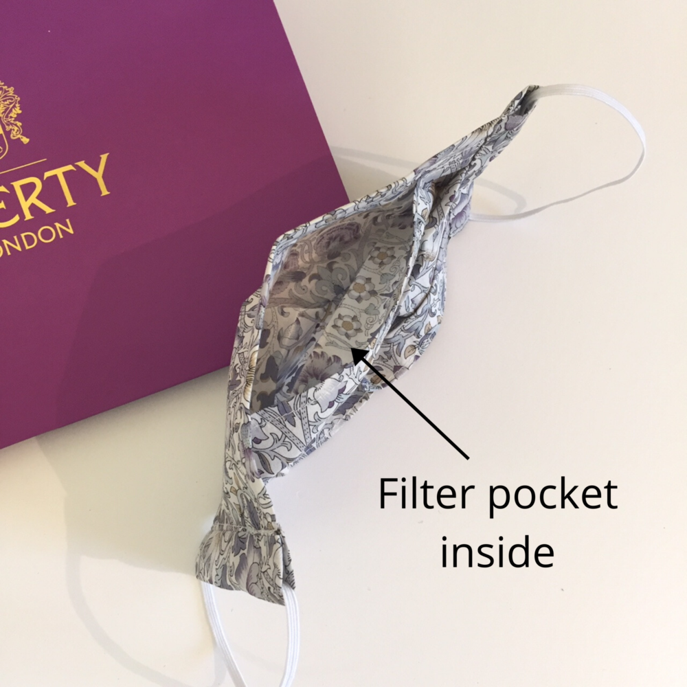 Quality face mask with filter pocket