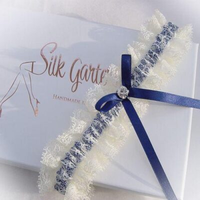 Ribbons and lace wedding garter