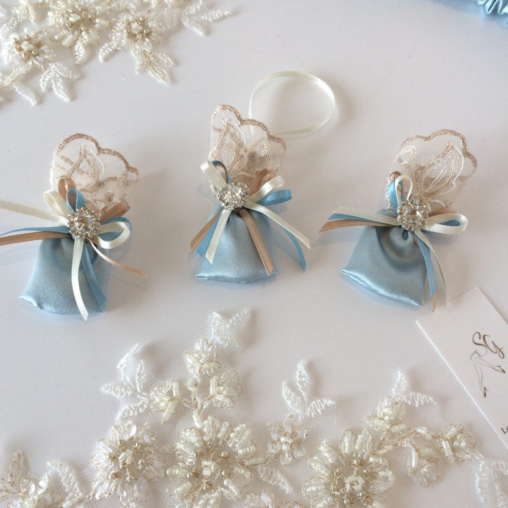 Sixpence bags for lucky brides