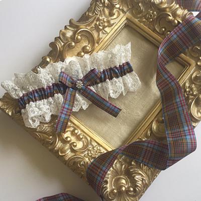 Anderson tartan wedding garter