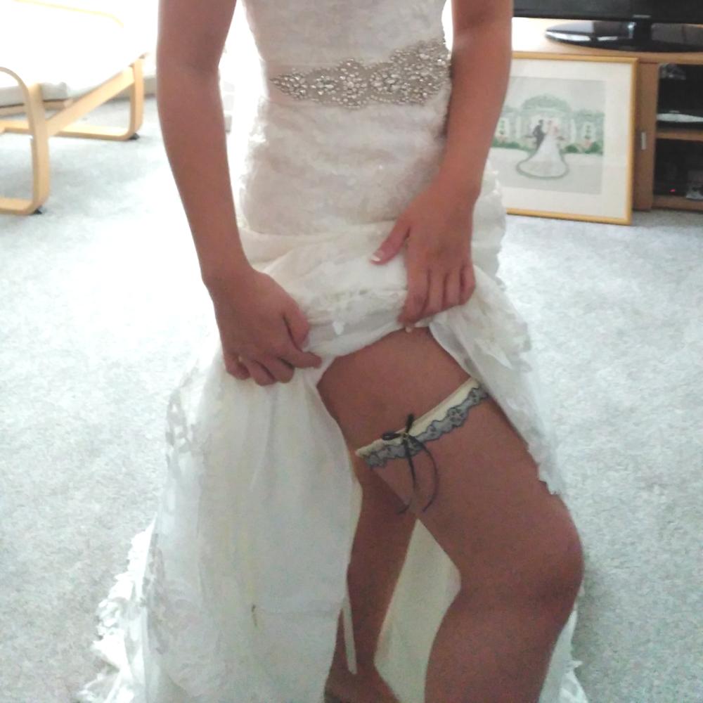 tulle bridal garter