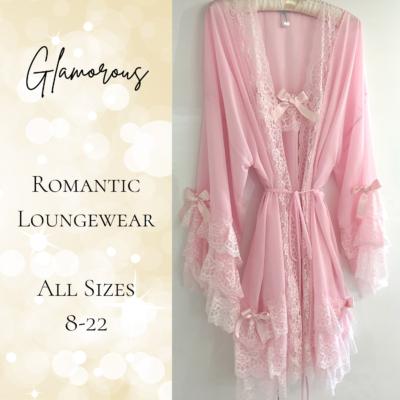 Romantic loungewear bridal peignoir set