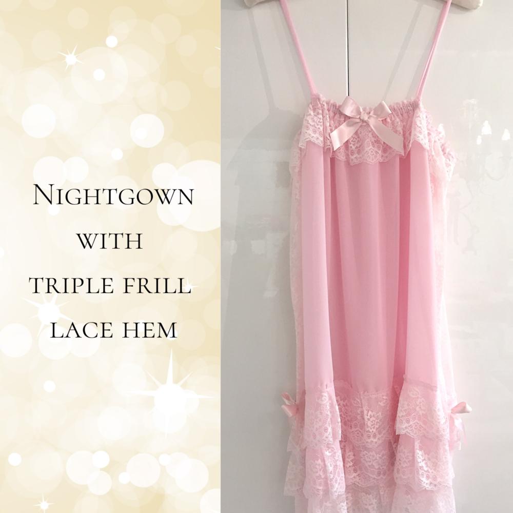 pink strappy nightdress