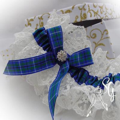 luxury tartan garter nottingham lace