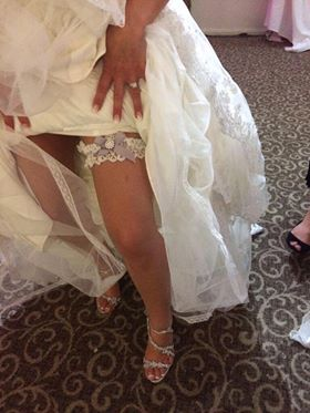 Silk Garters wedding garter review 5 Stars On Facebook from Jenny