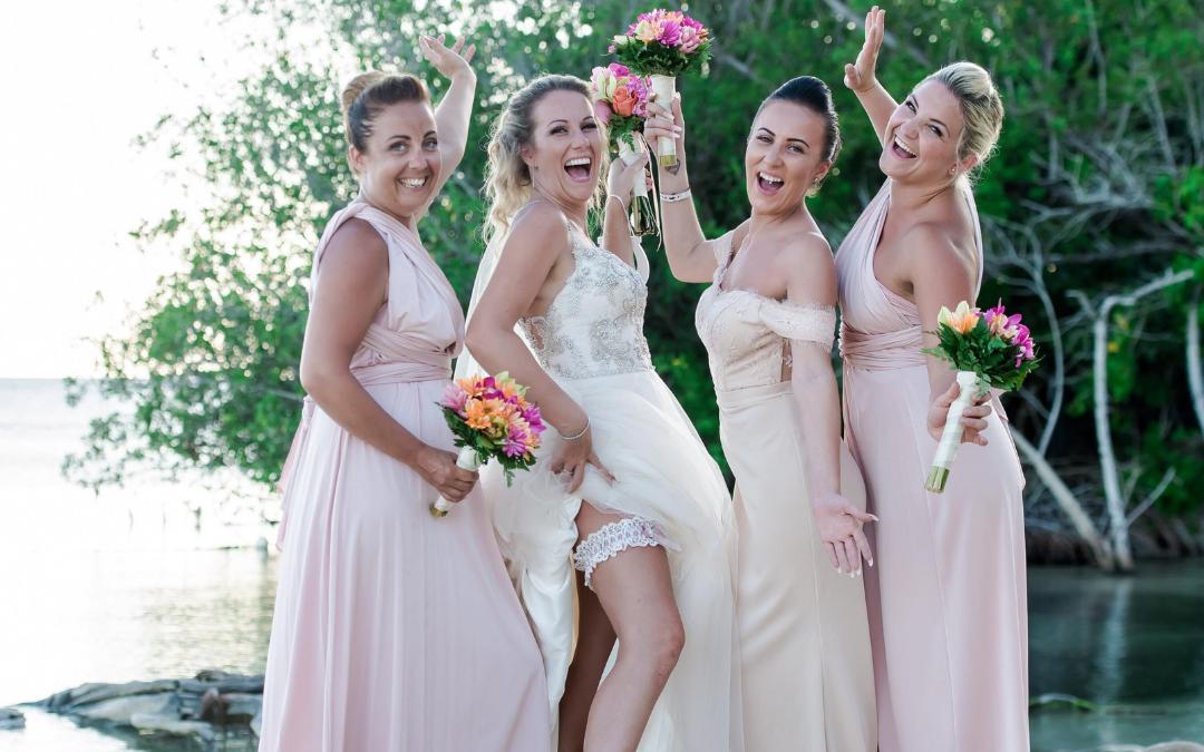 Tanya's Magical Wedding in Jamaica and Choosing the Lauren Wedding garter
