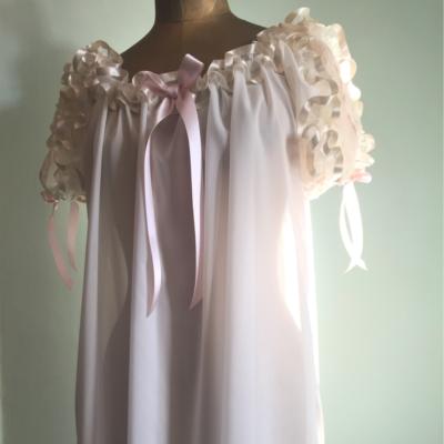 sheer bridal nightgown