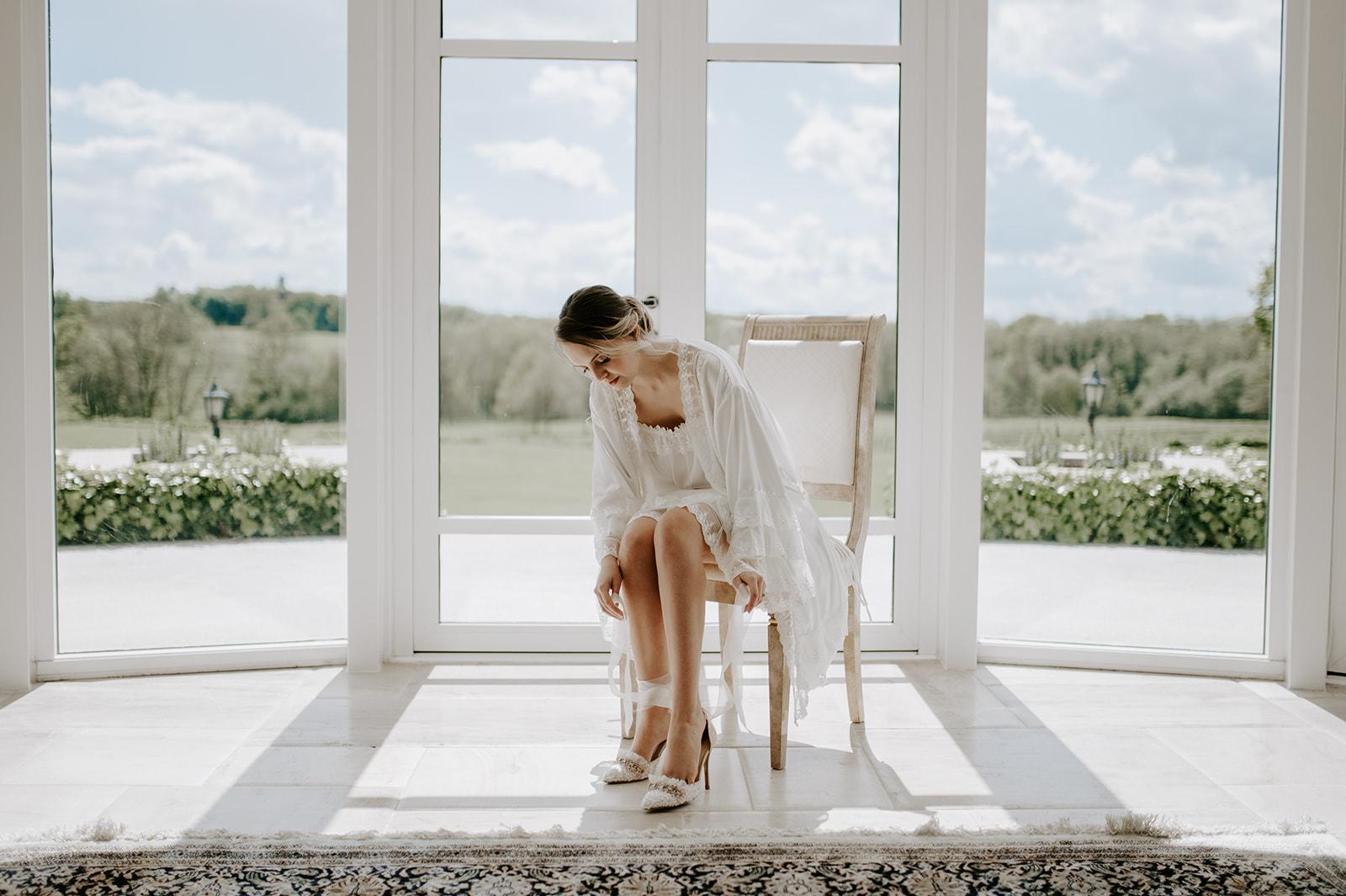 Bridal robe wedding day and honeymoon