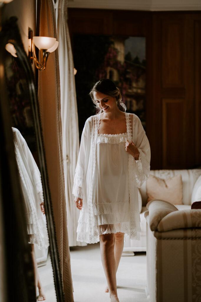 Waresley park photoshoot bridal robe