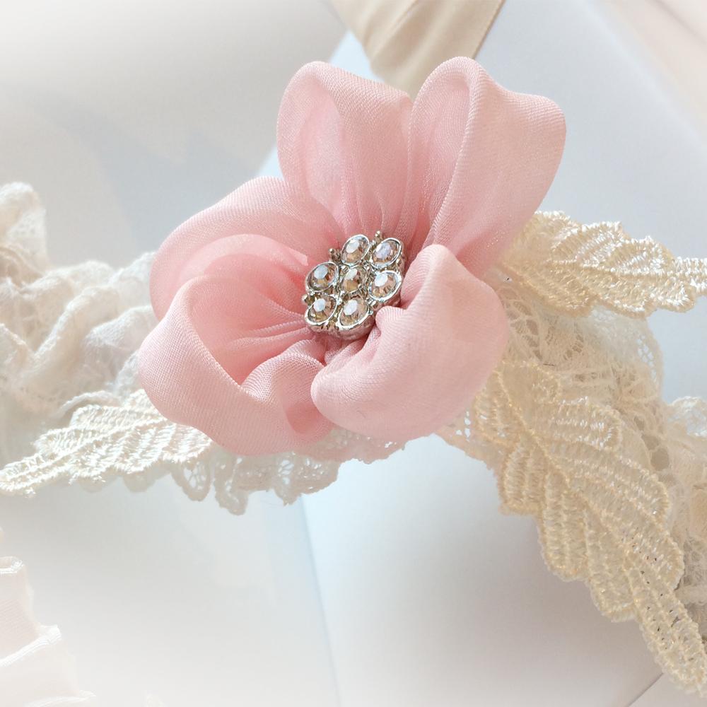 feminine wedding garter