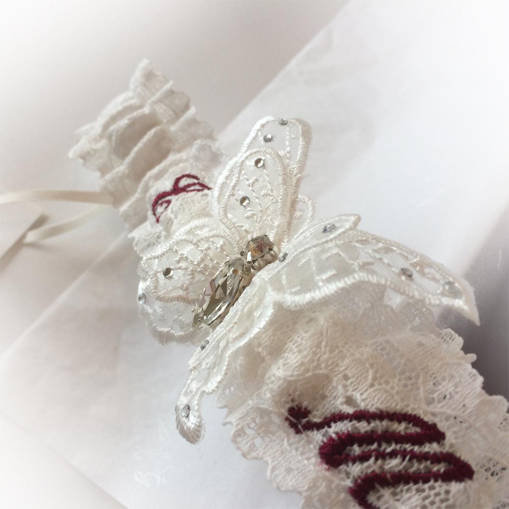 personalised garters for wedding