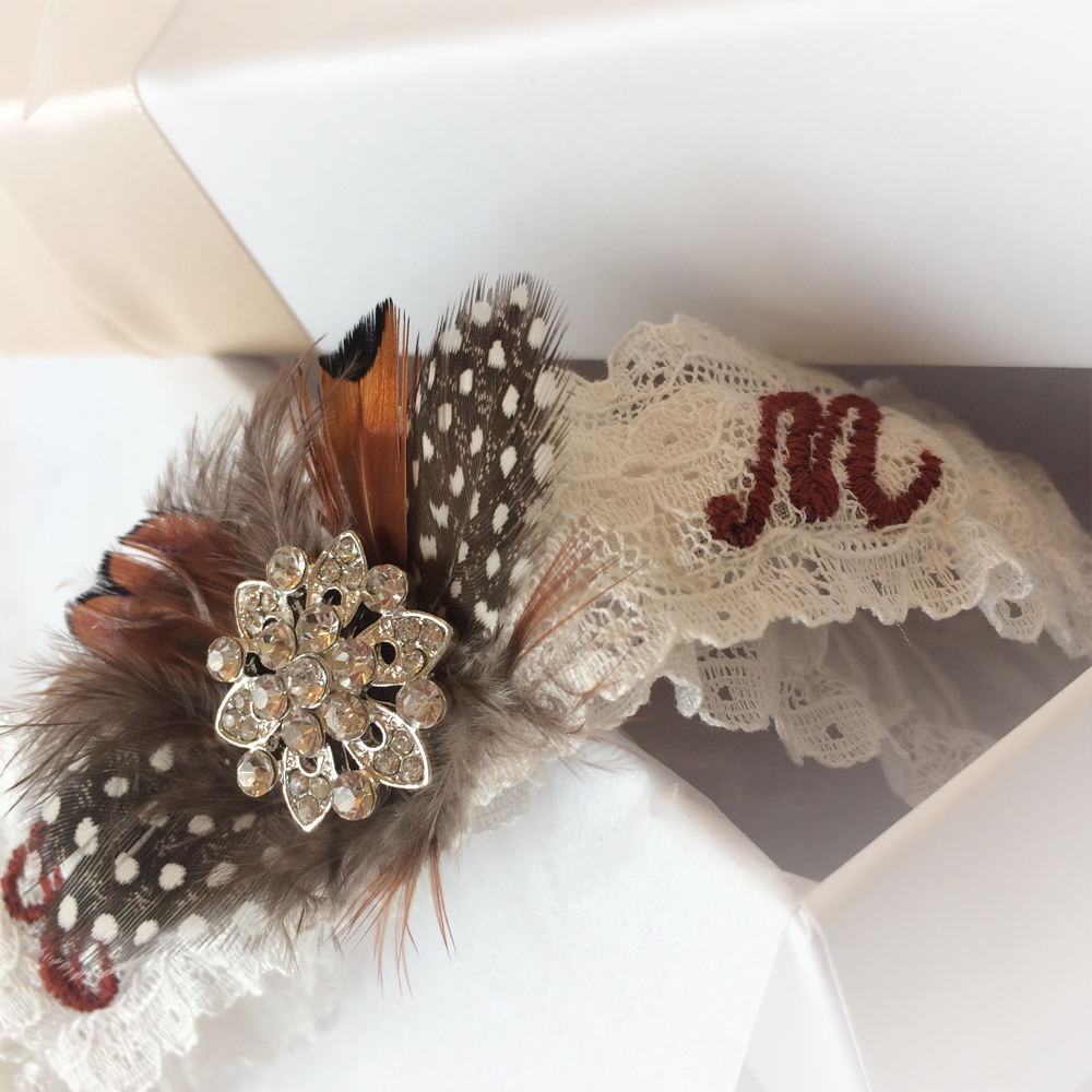 personalized garter for wedding